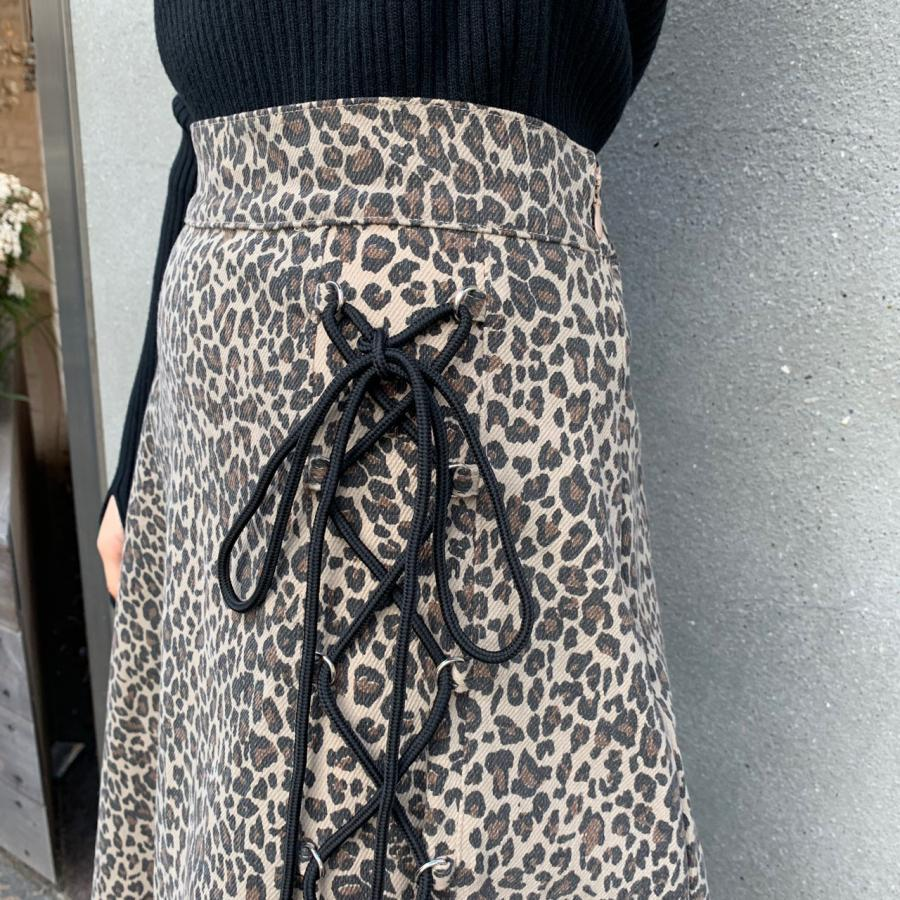 lace-up leopard skirt
