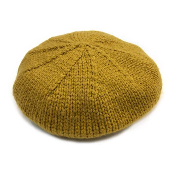 color knit beret