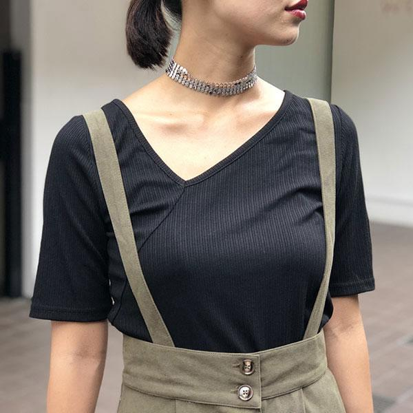 asymmetry neck tops
