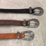 fake leather buckle belt